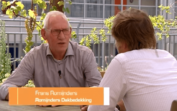 Dakdekker Frans Romijnders bij RTL