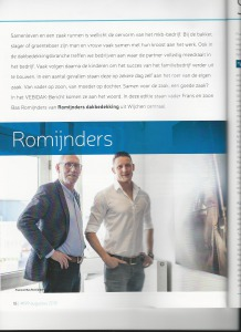 Interview in vaktijdschrift Vebikdak
